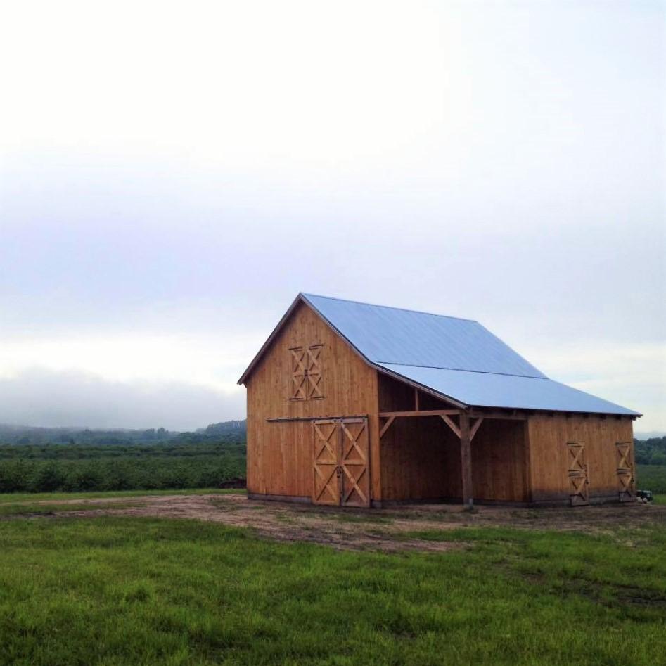 Broken-Back-Saltbox-36×36-in-MI-403B-Horse-Barn