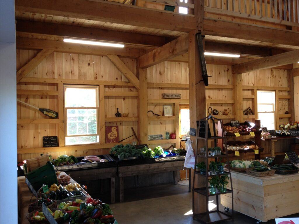 Carriage-House-Saltbox-40×40-in-CT-504B-Farm-Stand-Agricultural-Farm-Interior