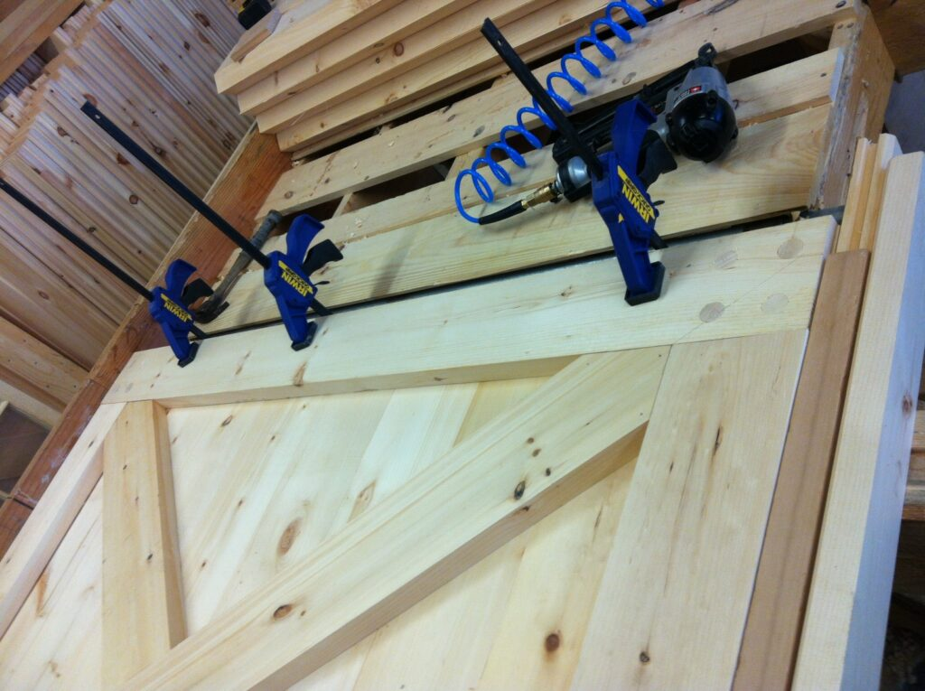 Detail-Crossbuck-Door-Under-Construction
