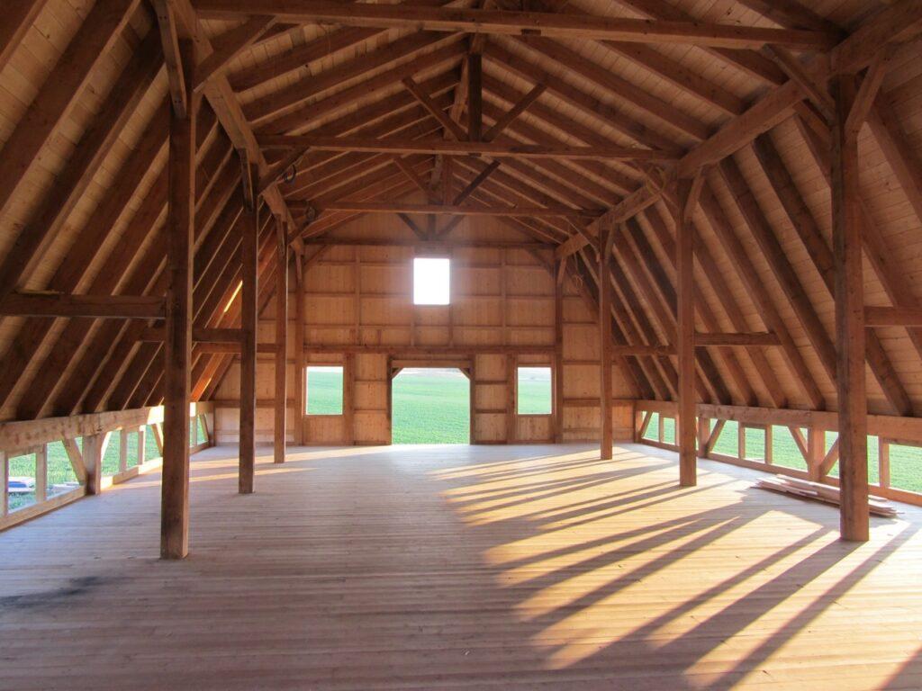 Gambrel-38×56-in-MT-Loft-205H-Loft-Interior-Under-Construction-Agricultural-Farm