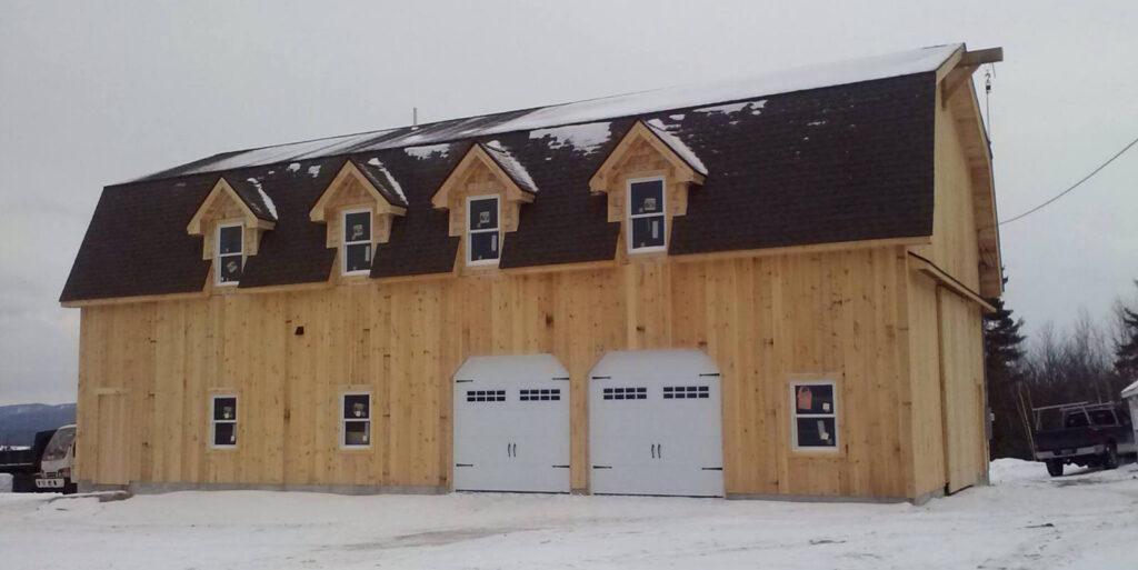 Gambrel-Home-Garage-Under-Construction